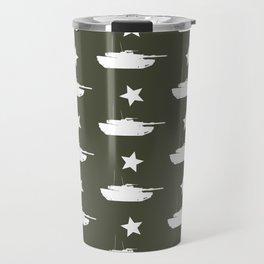 M1 Abrams Tank Pattern Travel Mug