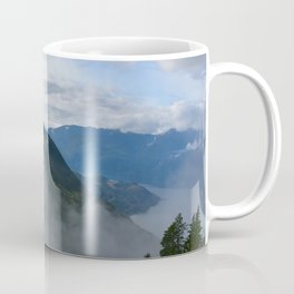 British Columbia morning in the mountains and fog Coffee Mug