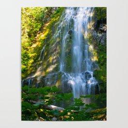 Proxy Falls 4 - Waterfall In Oregon Poster