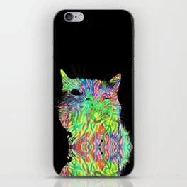 Psychedelic Cat iPhone Skin