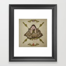 crumbling walls Framed Art Print