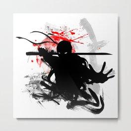 Japan Ninja Metal Print