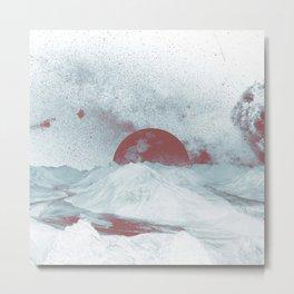 Pink Moon Mountain Metal Print