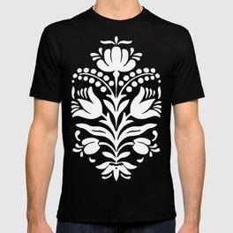 Vintage Blue Floral Damask T-shirt