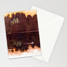 castle at a lake Stationery Cards