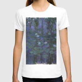 Claude Monet - Blue Water Lilies T-shirt