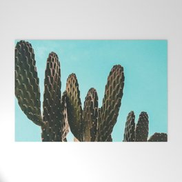 Cactus Photography Print {1 of 3}   Teal Succulent Plant Nature Western Desert Plants  Design Decor Welcome Mat