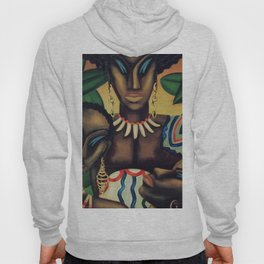 African American Masterpiece 'Africa' by Lois Jones Hoody