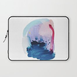 PYT: a minimal abstract mixed media piece on canvas in blues, pink, purple, and white Laptop Sleeve