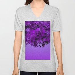 paint splatter on gradient pattern dp Unisex V-Neck
