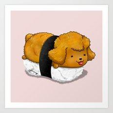 Poodle Nigiri Art Print