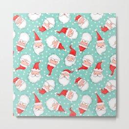 All the Santas Pattern Metal Print