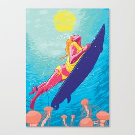 The Dive Canvas Print