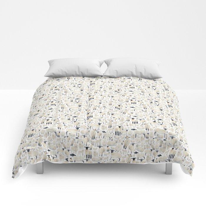Watercolour Sheep Comforters