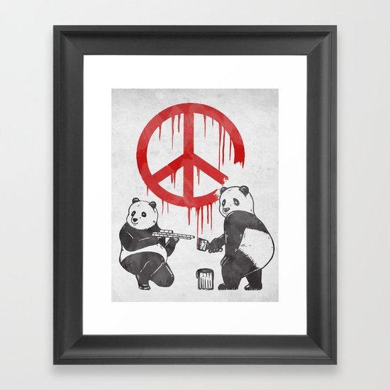 Pandalism V2 Framed Art Print