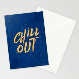 Chill out Positive Inspirational Quote Stationery Cards