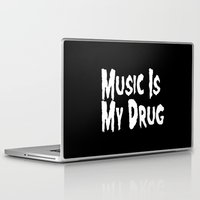 misfits Laptop & iPad Skins featuring Music Is My Drug by Poppo Inc.