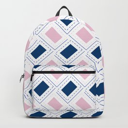 AFE Pink and Blue Pattern Backpack
