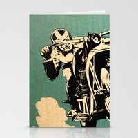 motorcycle Stationery Cards featuring Motorcycle Race by Fernando Vieira