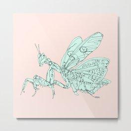 Asian Flower Mantis Metal Print