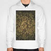 damask Hoodies featuring Decorative damask by nicky2342