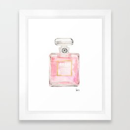 perfume bottle art watercolor print home, fashion, office, wall, dorm decor Framed Art Print