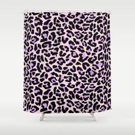 Pastel leopard fur II Shower Curtain