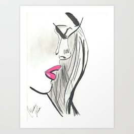 Pretty When I Cry Art Print