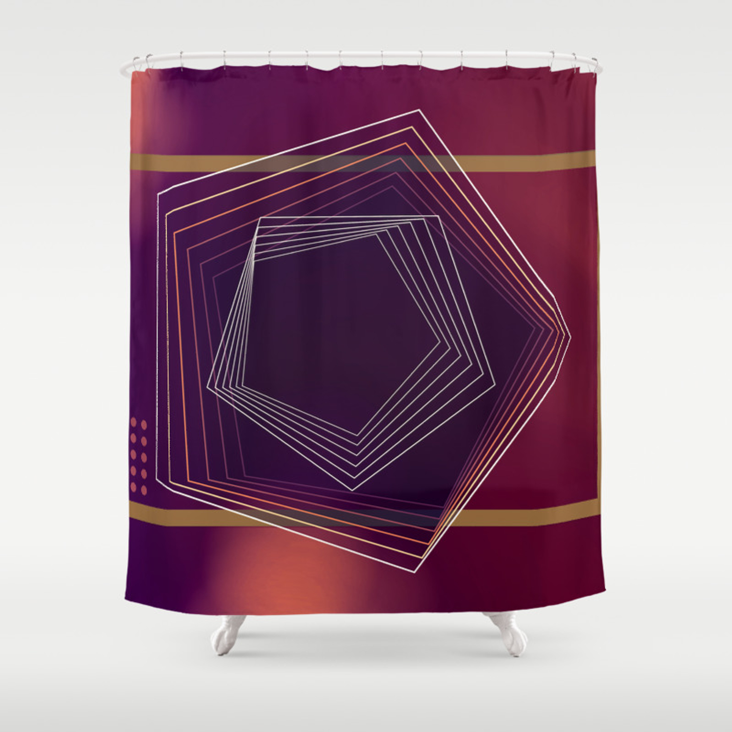 Wine Time Luxury Shower Curtain