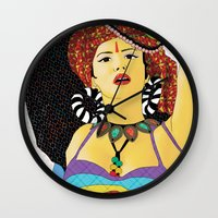 swag Wall Clocks featuring Tribal Swag by LIGHTNING9