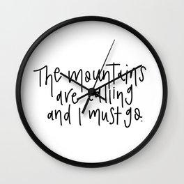 Mountains v.2 Wall Clock