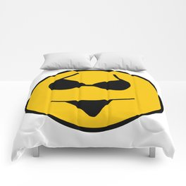 Smiley Bikini Have a Nice Beach Day Comforters