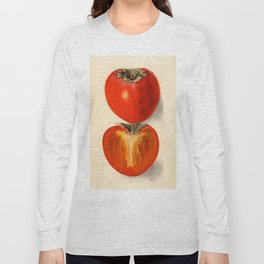 Vintage Plum Tomato Illustration Long Sleeve T-shirt