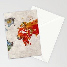 World Map 49 Stationery Cards