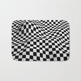Wiggly Checker Board Bath Mat