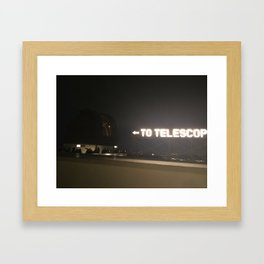 This Way to the Telescope Framed Art Print