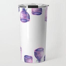 Purple Mushrooms Travel Mug