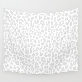 Pale Gray Leopard Wall Tapestry
