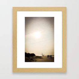 Stroll along the Beach Framed Art Print