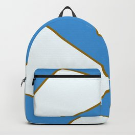 Geometric abstract - blue and brown. Backpack