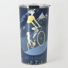 Avec la Bicyclette Travel Mug