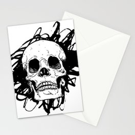 Skull, death Stationery Cards