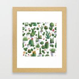 Succulent Cacti Framed Art Print