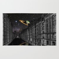 saturn Area & Throw Rugs featuring Saturn by Cs025