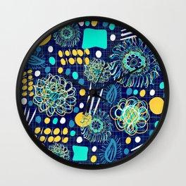Playful mantra Wall Clock