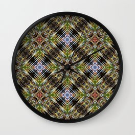 Geometric Frozen Roots Wall Clock
