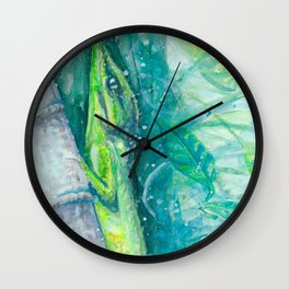 Anole and Jasmine Wall Clock