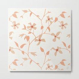 Floral Clematis Vine Metal Print