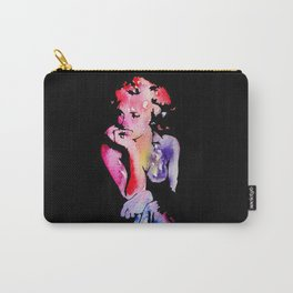 Merilyn Monroe Watercolor stencil Carry-All Pouch