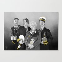 cabin pressure Canvas Prints featuring Cabin Crew by tillieke